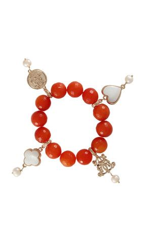 Dara Loft - Bowerhaus - Lucky Bracelet - Orange Agate USD85 International Shipping Available - email us for shipping quotes. sales@daraloft.com