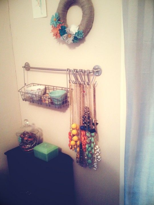 Ikea Hanging Jewelry Organization from Miss Priss Home