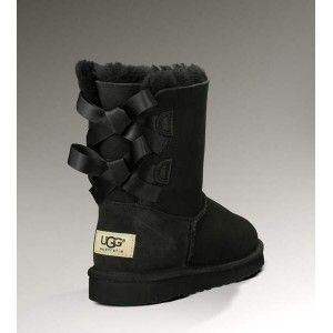 Ugg Bailey Bow 1002954 Black Boots Cheap Ugg Boots Outlet. Some less than $100 OMG! Holy cow, I am gonna love this site! | Random! | Pinterest | Black boots ...