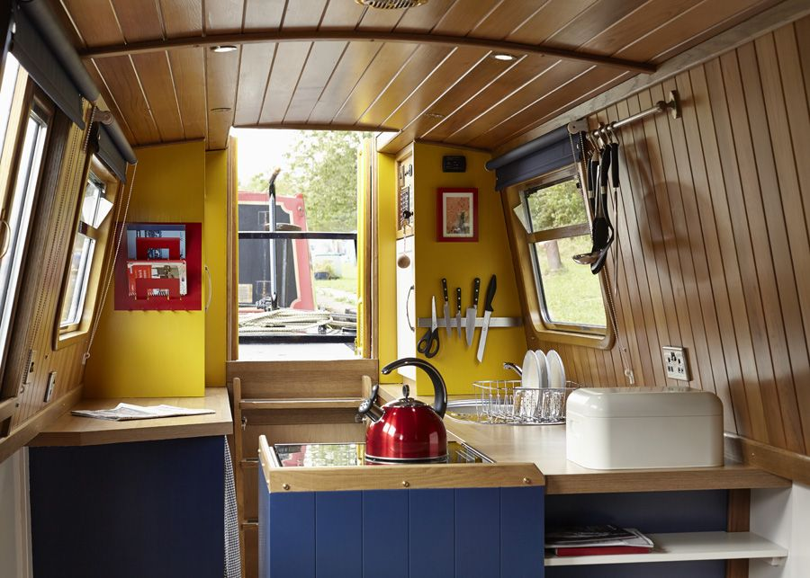 Here is the interior of Queenie our 2 berth narrowboat for hire