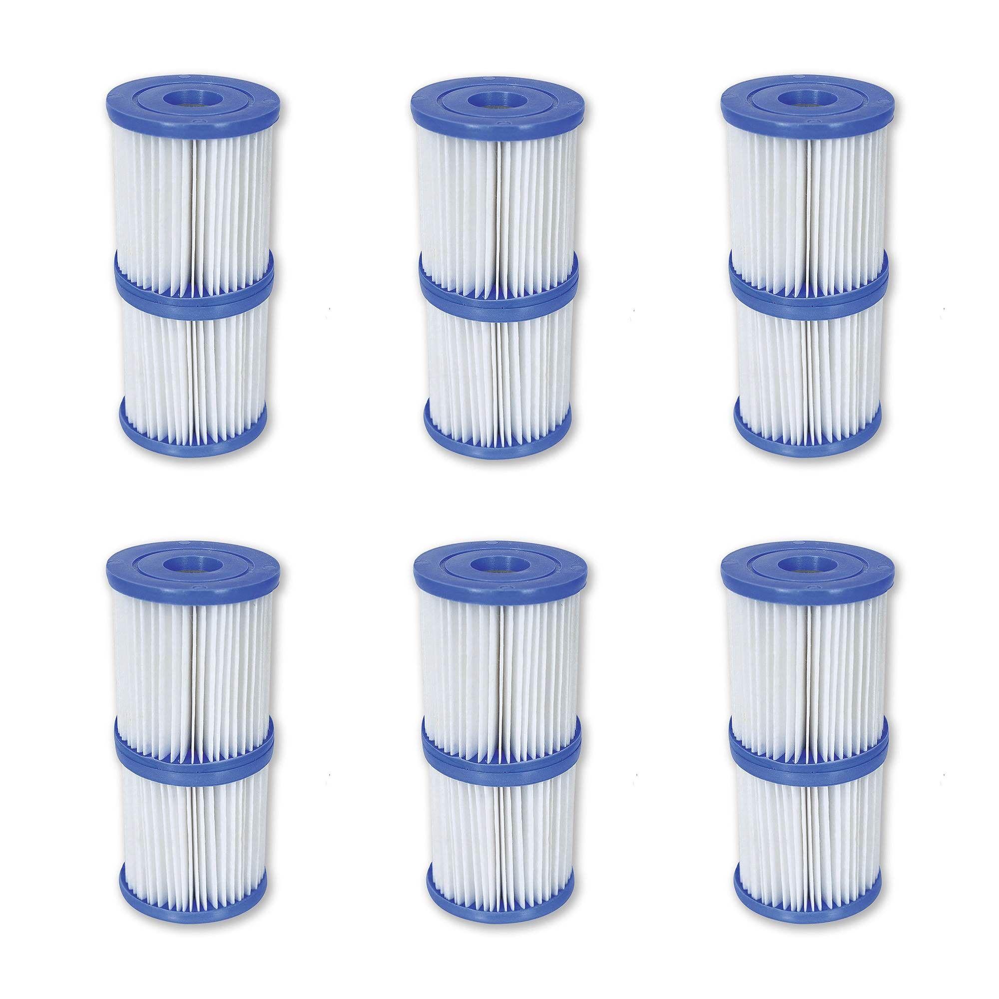 12 Filter Cartridge Size 2 Pool//Spa Filter Cartridges Bestway