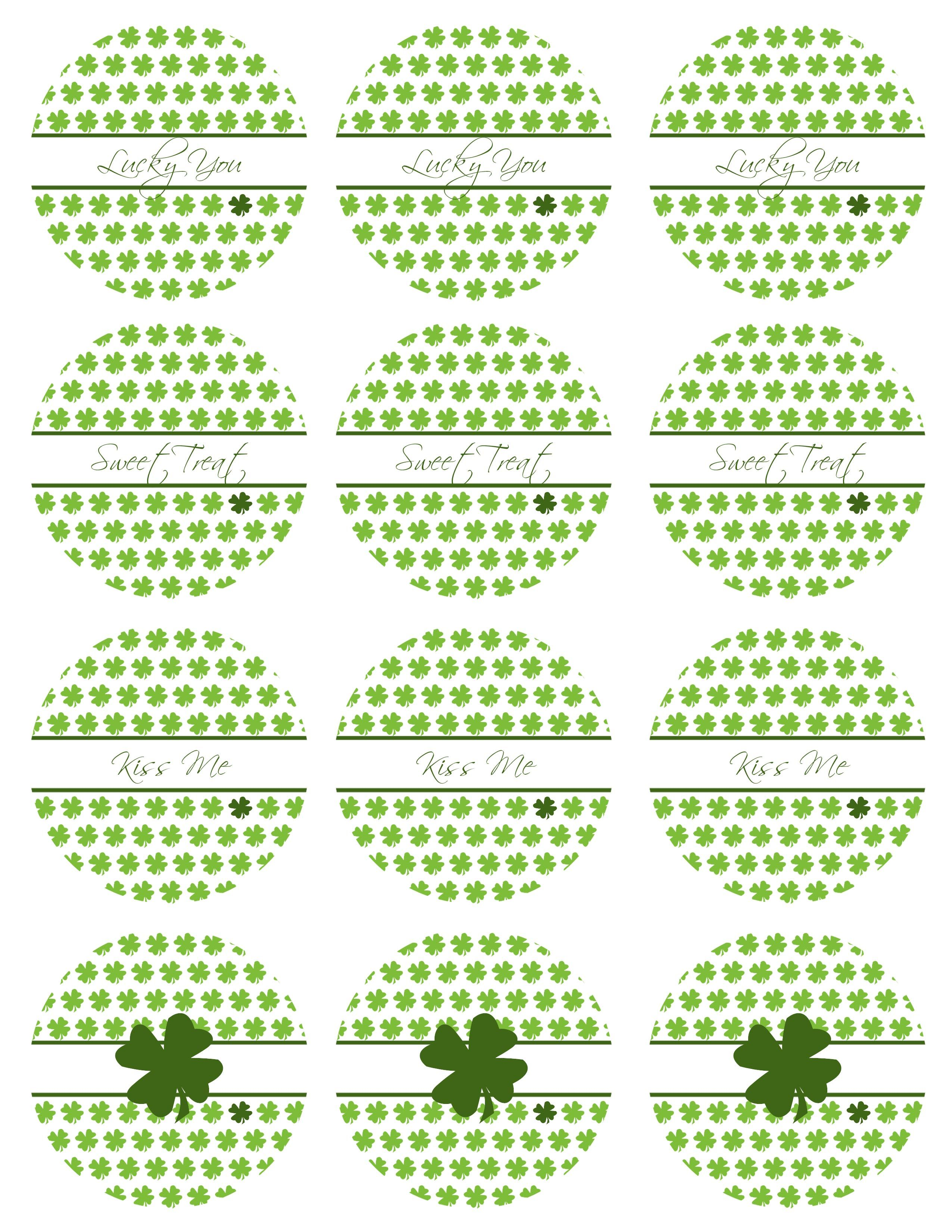Free Printable Friday St Patrick S Day Tags