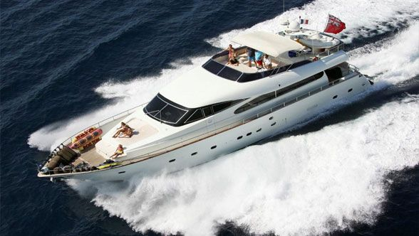 """One of Our Best Yacht """"Made in Italy"""" Available Now only for You!!!! Magnificent Amer 25.90 mt as new, refitting by Maiora in 2007/2010 (new rollbar, new Jacuzzi in top deck, etc.); she offers 4 staterooms for 8 guests and crew of 4 members."""