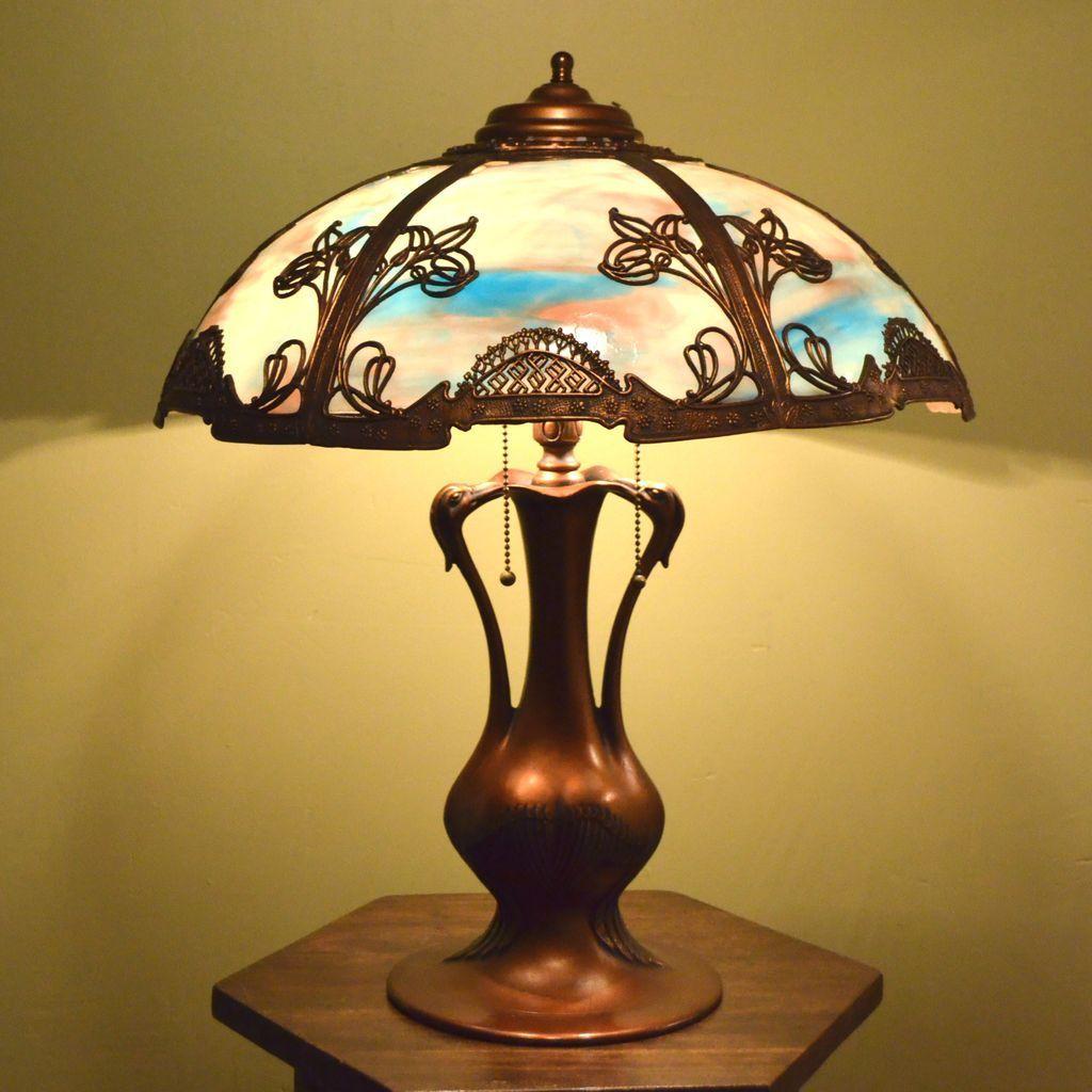 Pin On Slag Glass Table Lamps