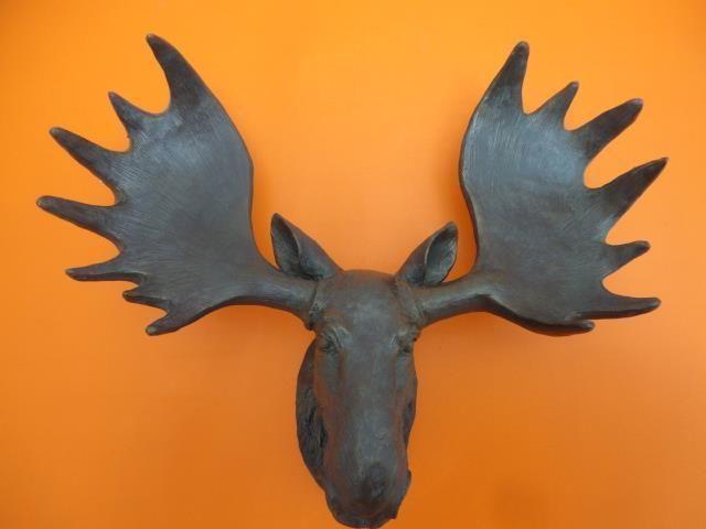 Resin Moose Deer Head Antler Wall Mount Ornament Mantel Staging Home Decor Bronz Ebay Moose Deer Deer Head Deer