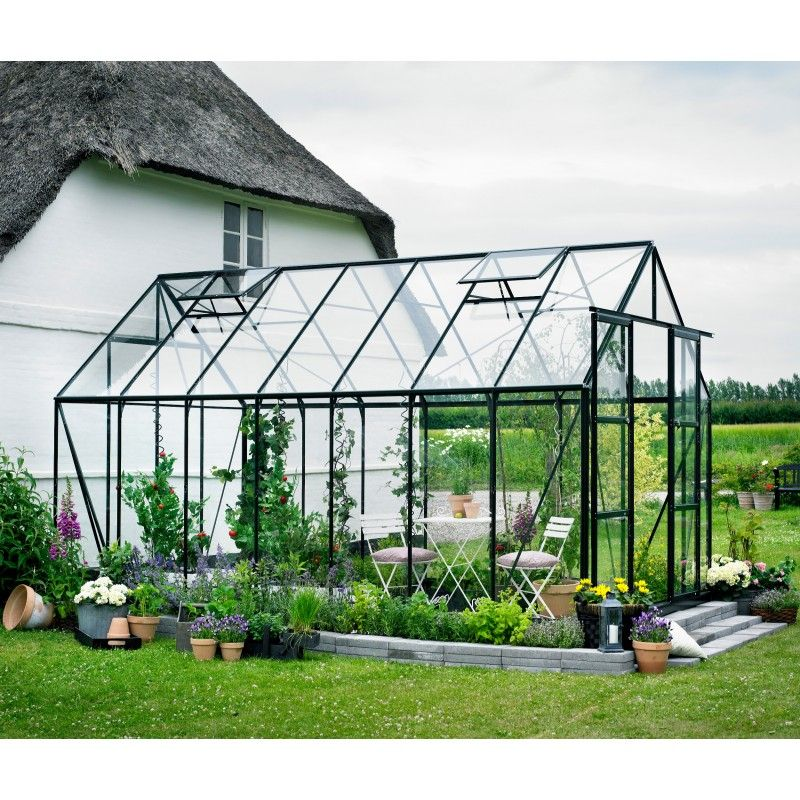 serre de jardin 11 5m verte en verre tremp magnum. Black Bedroom Furniture Sets. Home Design Ideas
