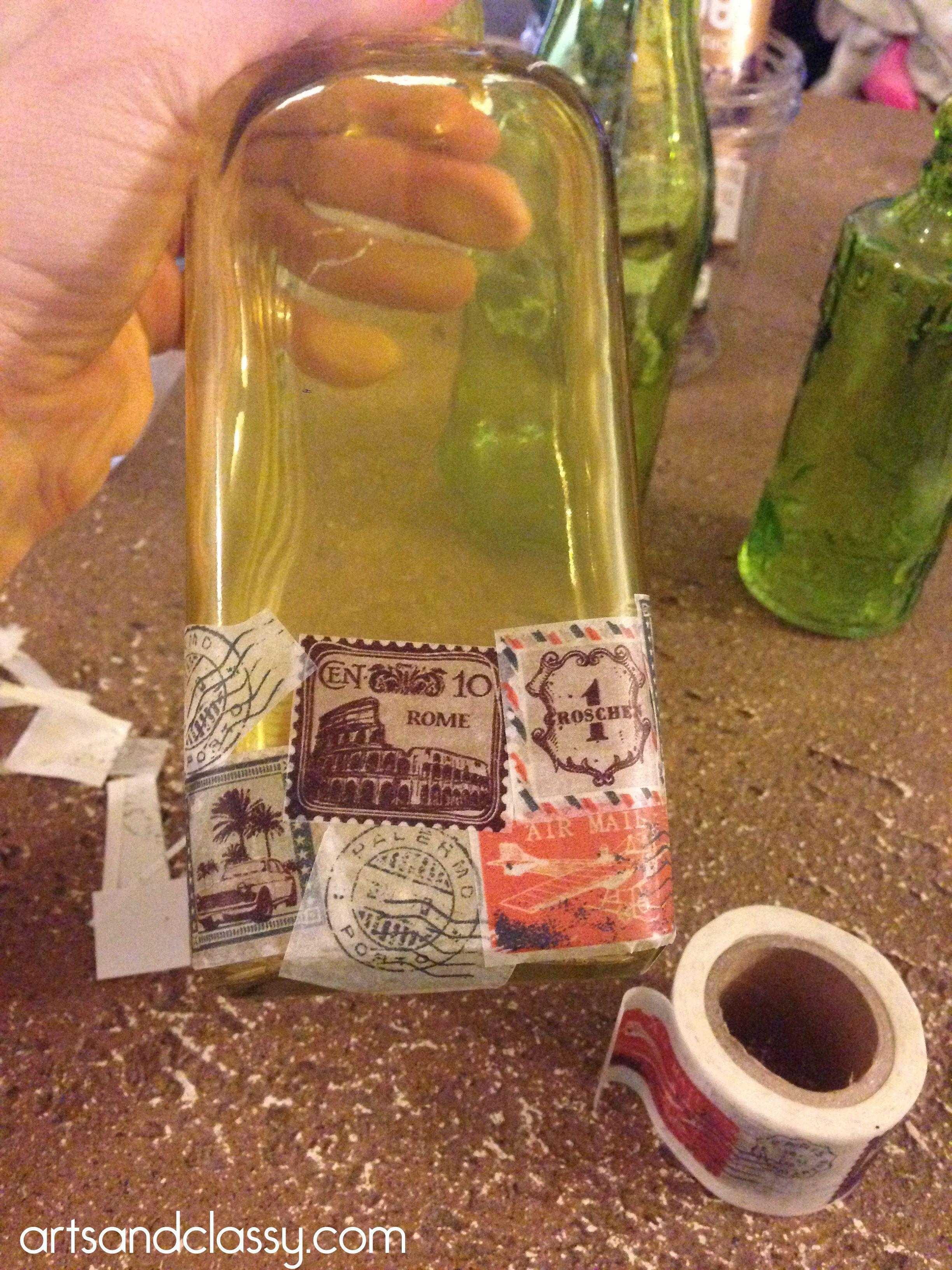 DIY Kitchen Bottle Tutorial Michaels Pinterest Party