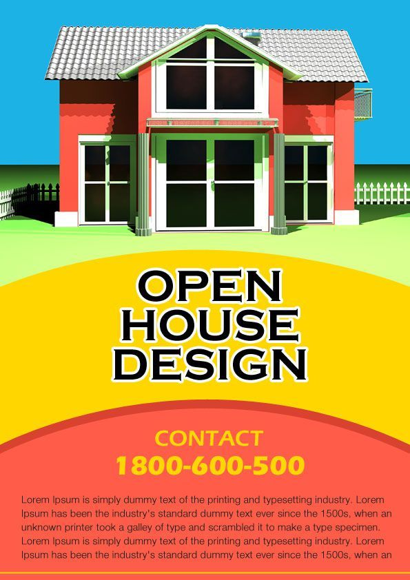 Free Real Estate Open House Flyer Templates Open House Flyer - house for rent template