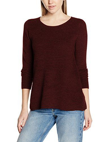 ESPRIT 116EE1I025, Pull Femme, Rouge (Bordeaux Red 5), 40 (Taille fabricant: Large): Tweet