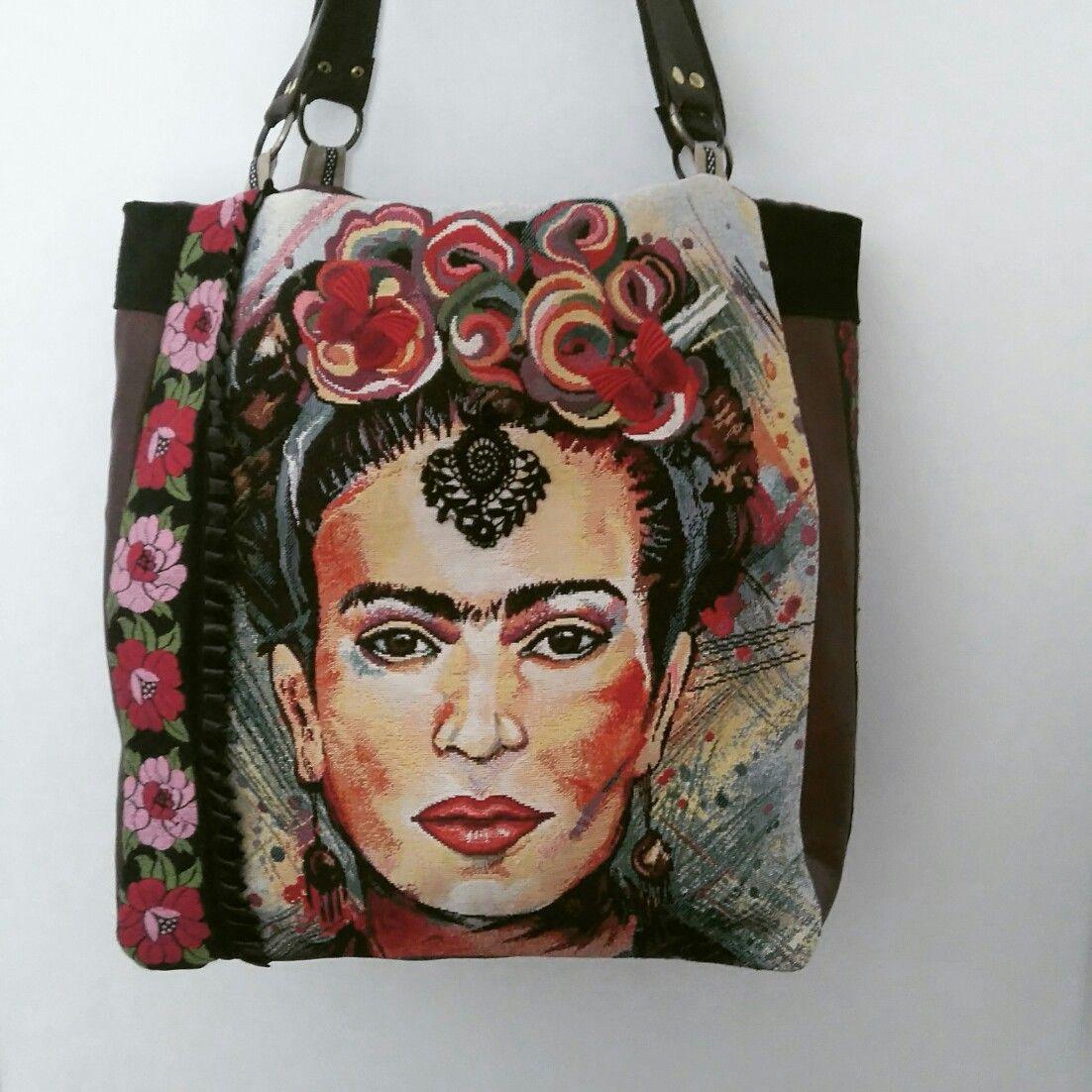 Frida kahlo handbag  Hand sewn in my studio  Others designs soon