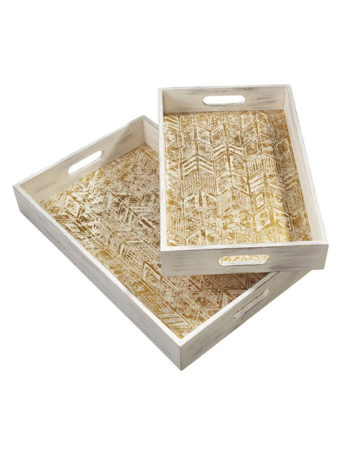 Distressed Arrow Trays Set Of 2 From Trays Wood Tray