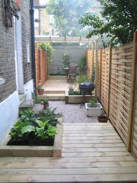 Creative ideas for a long narrow garden design is part of Small backyard gardens, Small backyard landscaping, Small garden design, Small front yard landscaping, Narrow garden, Modern garden - Inspirational ideas, examples and mustread tips for creating and getting the most out of a beautiful long narrow garden design