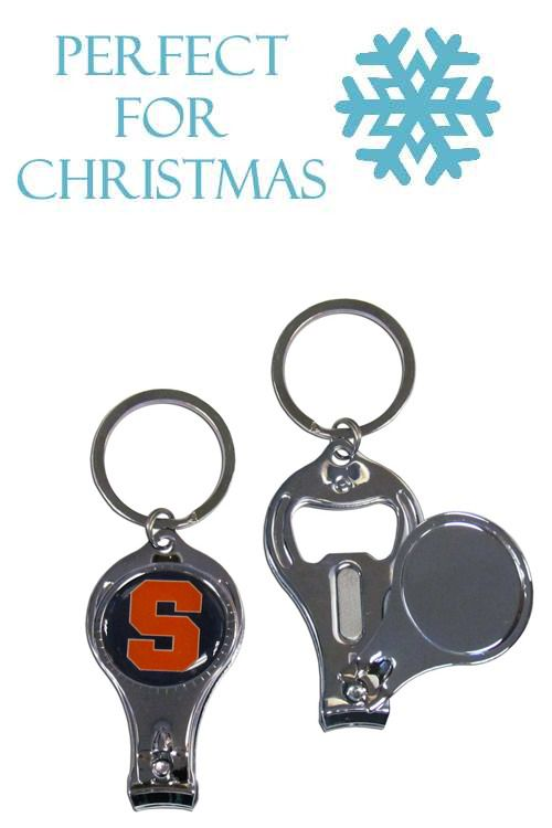 This unique collegiate key chain has 3 great functions! The key chain opens  to become a nail clipper ffb51655c