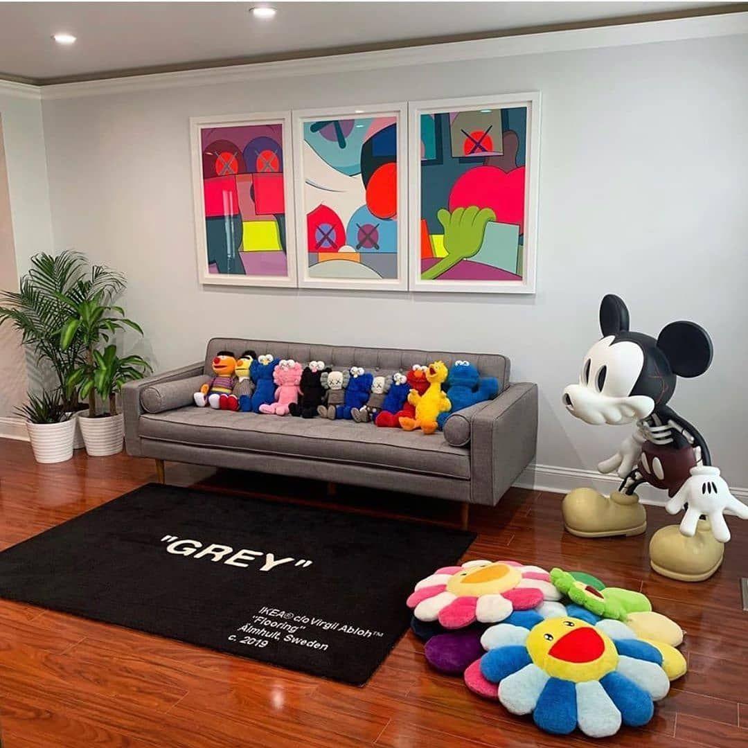 Home Goal V 2 Kaws Hypebeast Art Supreme Yeezy Kawscompanion Supremenyc Kawsbff Uniql In 2020 Home Room Design Hypebeast Room Sneakerhead Room