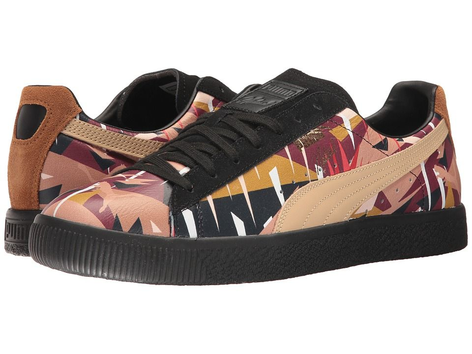 6398aba4cb23 PUMA Puma x Naturel Clyde Moon Jungle Sneaker Shoes Puma Black Natural  Vachetta