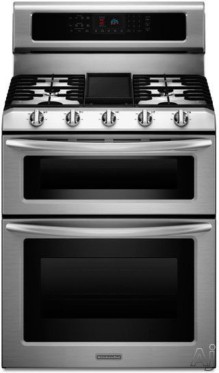 Kitchen Aid Architect Series Ii Double Convection Oven 30 Freestanding Gas Range With 5 Sealed Burners 6 0 Cu Ft Capacity Even Heat True