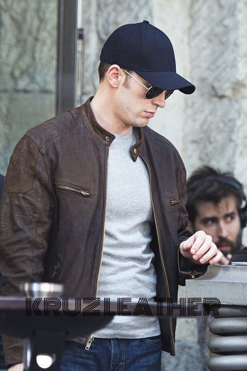 02f474530 Civil War Steve Rogers Brown Jacket in 2019 | Products | Chris evans ...