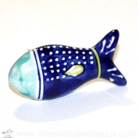 Parfait Pour Changer Le Look D Un Meuble Ou D Un Placard Poignee En Forme De Poisson En Ceramique Dimensions Poi Bouton De Meuble Ceramique Deco Bord De Mer
