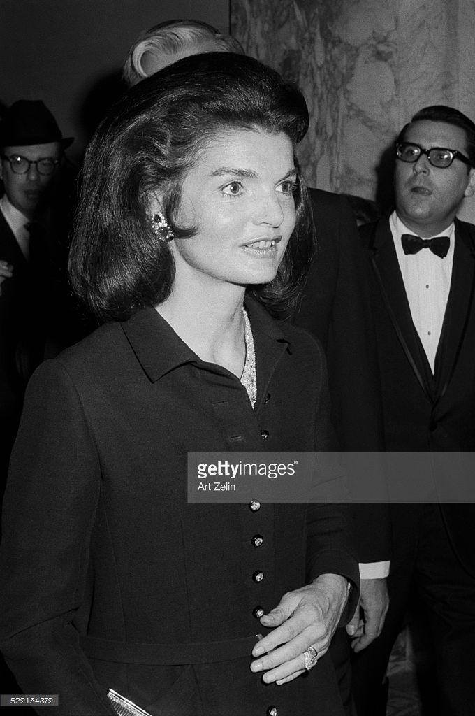 Jacqueline Kennedy Onassis close-up; circa 1970; New York.