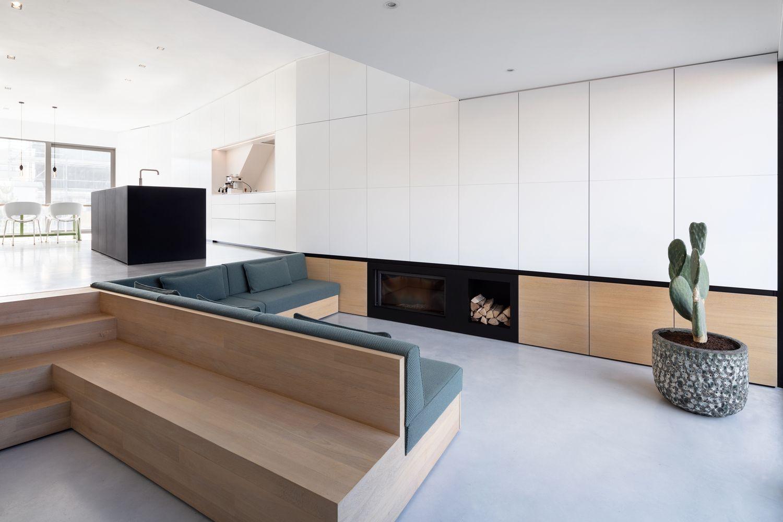 Brass house amsterdam minimalist interior house living room room