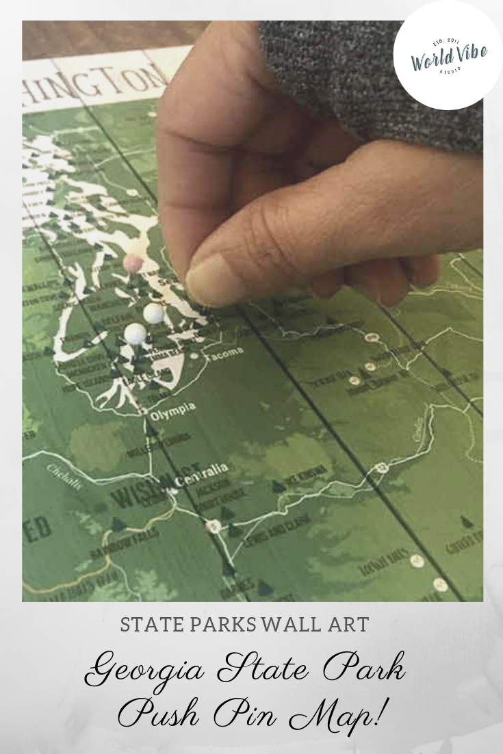 Georgia State, State Park Map, Canvas, Ready to Hang   World