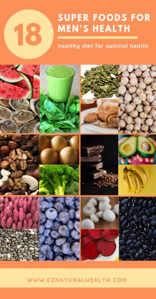 18 Super Foods For Men S Health Nutrition Recipes Man Food Health Healthy