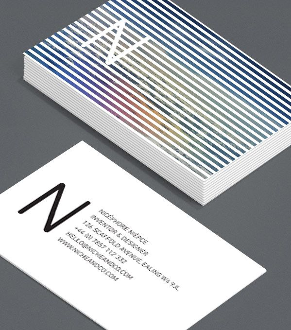 Nicphore nipce these cards with a view leave a little to your business cards colourmoves