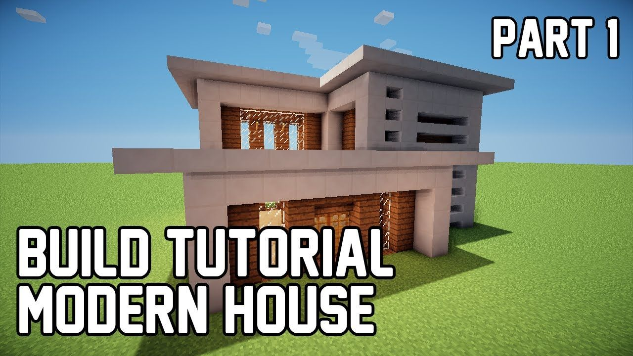 minecraft build tutorial modern house 1 part 1