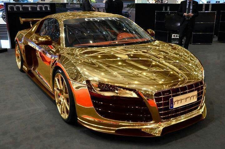 Gold Audi R8 Dubai Cars Sports Cars Luxury Super Cars
