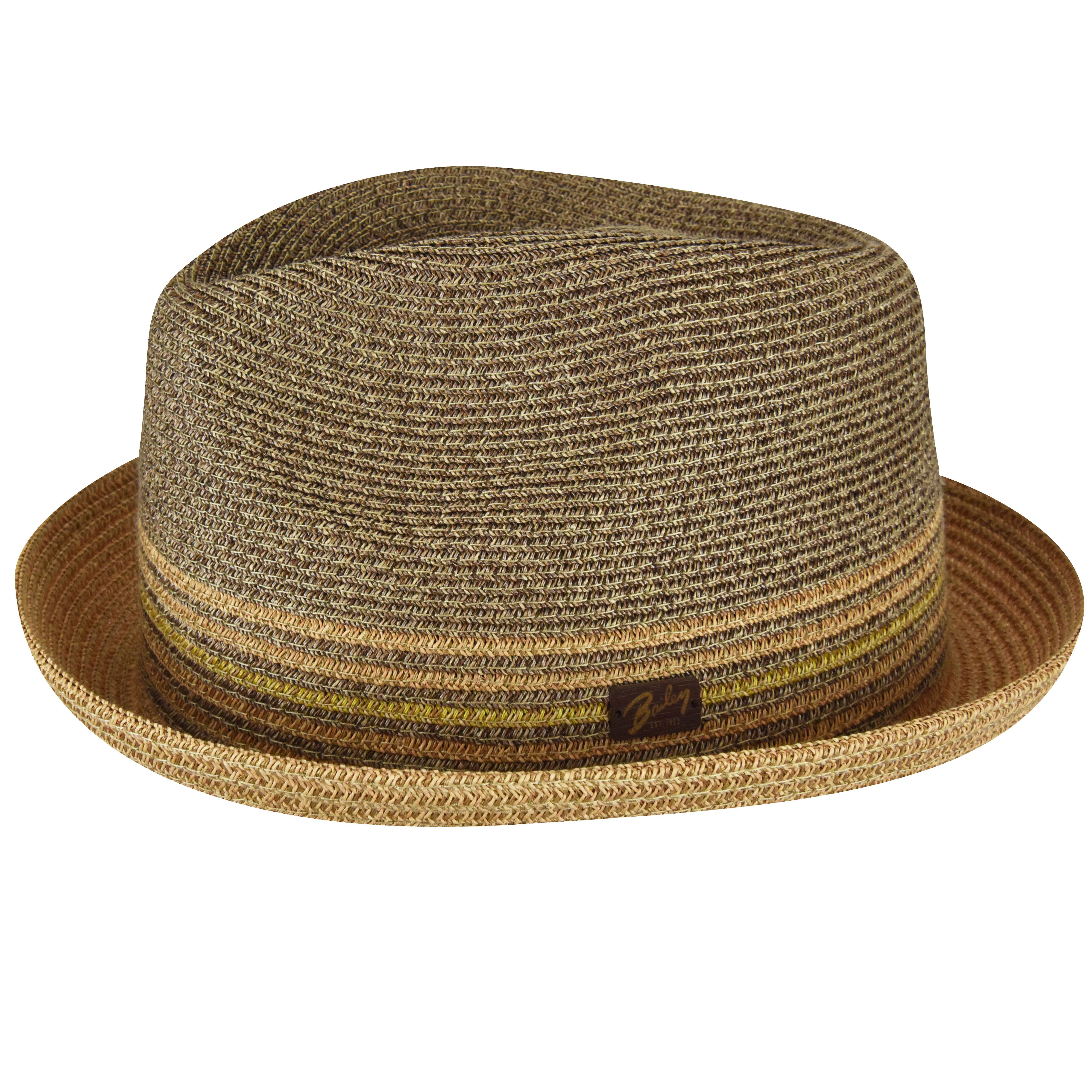 Bailey of Hollywood Mens Rokit Braided Fedora Trilby Hat with Stripe Band Fedora