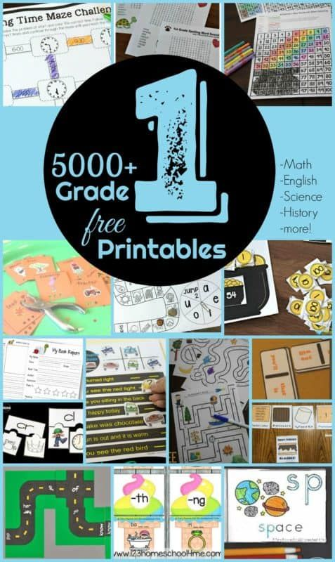 Photo of FREE 1st Grade Worksheets