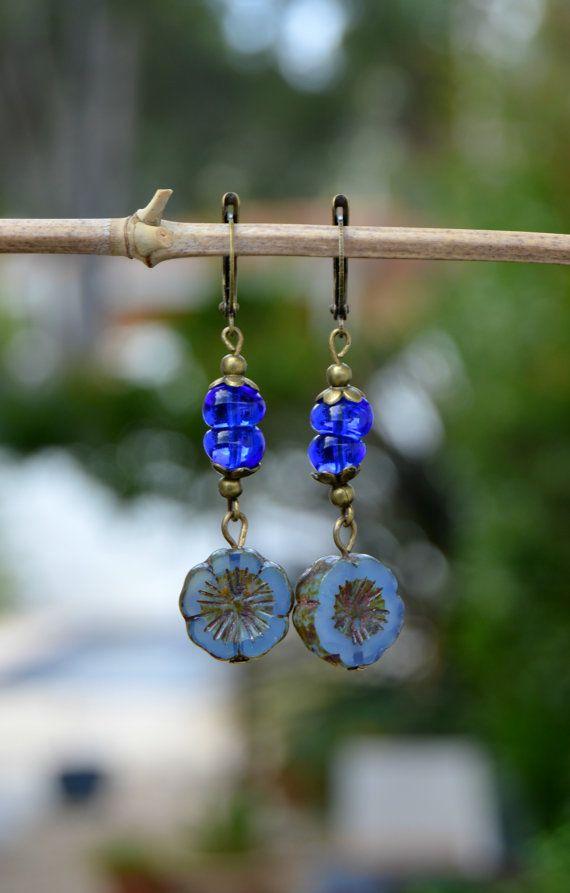 d9ece7f6b266 Pendientes cristal azul