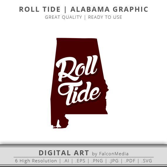 Alabama Svg Roll Tide Svg Alabama State Svg Alabama Roll