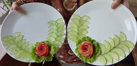 Essen Dekoration coole essen deko ideen und teller dekoration food