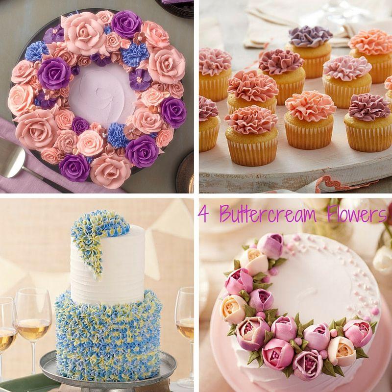 Buttercream Flower Wreath Cakes & Floral Techniques