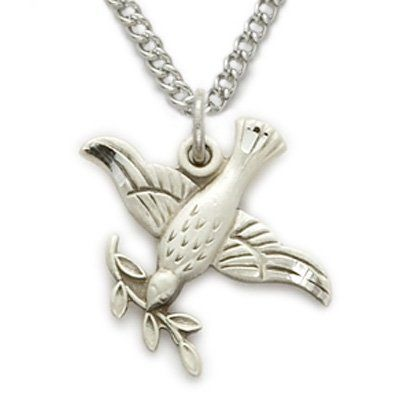 Sterling silver dove necklace in an olive branch mymallhome sterling silver dove necklace in an olive branch mymallhome closest shopping mall aloadofball Image collections