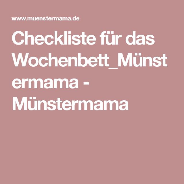 Checkliste Fur Das Wochenbett Munstermama Munstermama Wochenbett Checkliste Liste