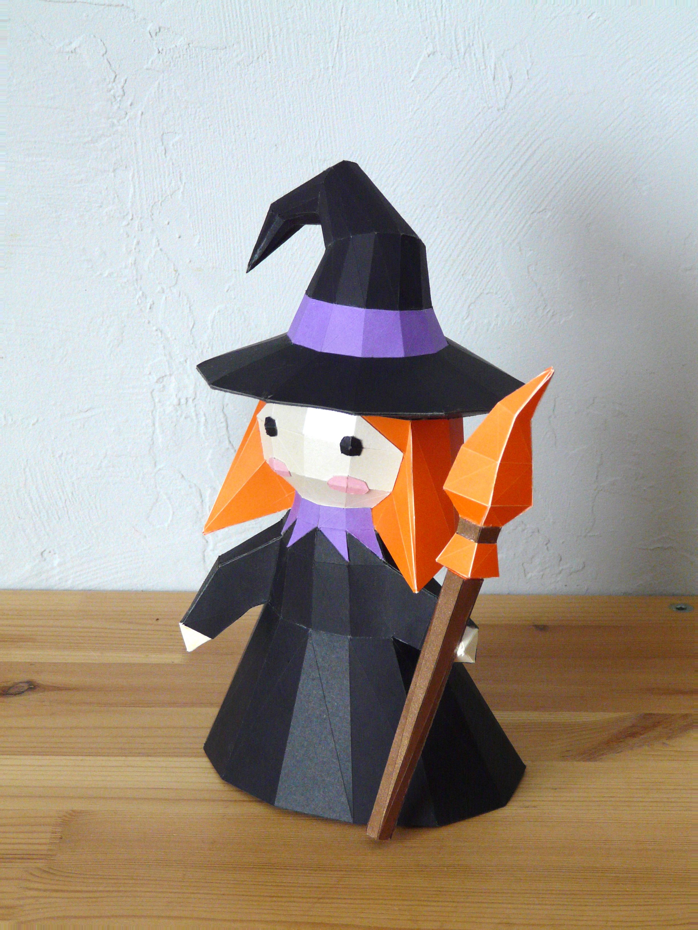 3D papercraft Little Witch DIY Templates Including Etsy