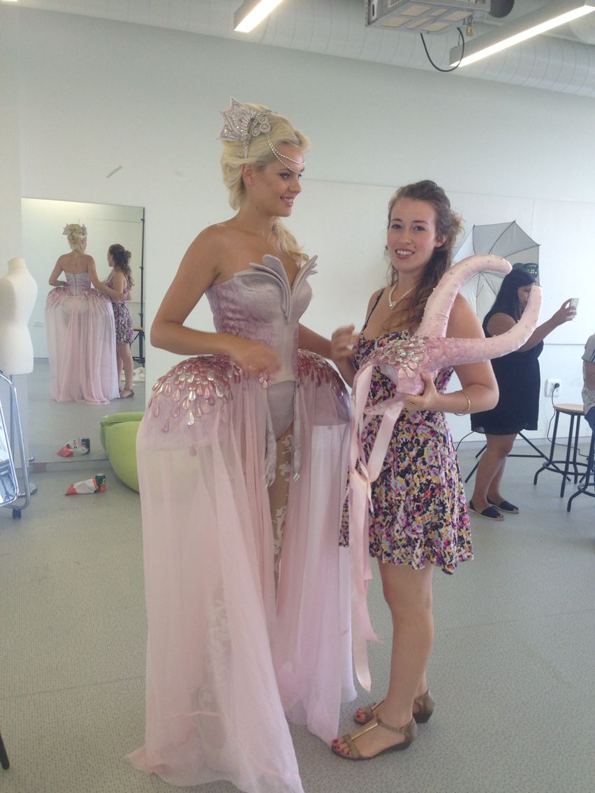 Model and designer  chana weinberg costume design 2014
