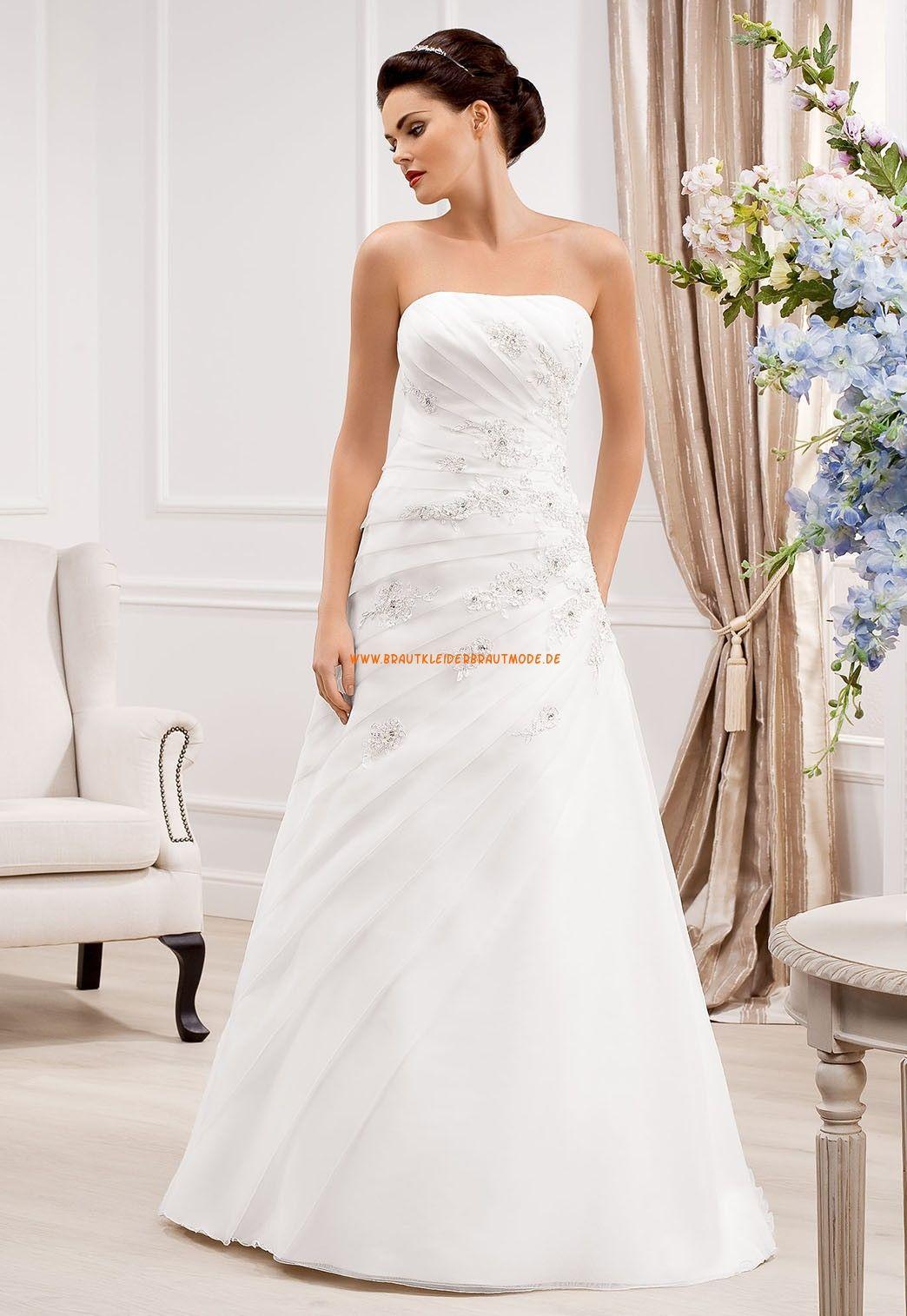 Bodenlange Schicke Hochzeitskleider aus Organza | Romantische ...