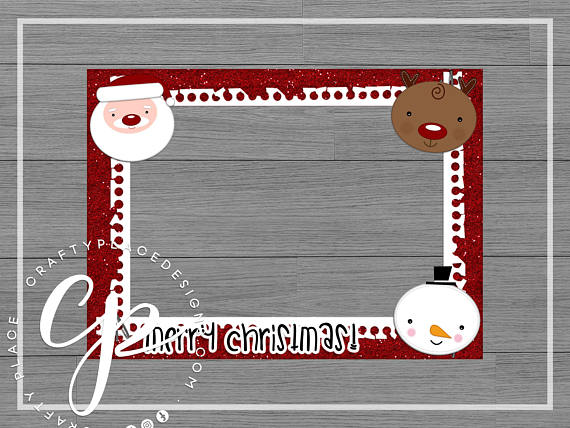 Christmas photo booth cutout frame prop / Personalized / Printed ...