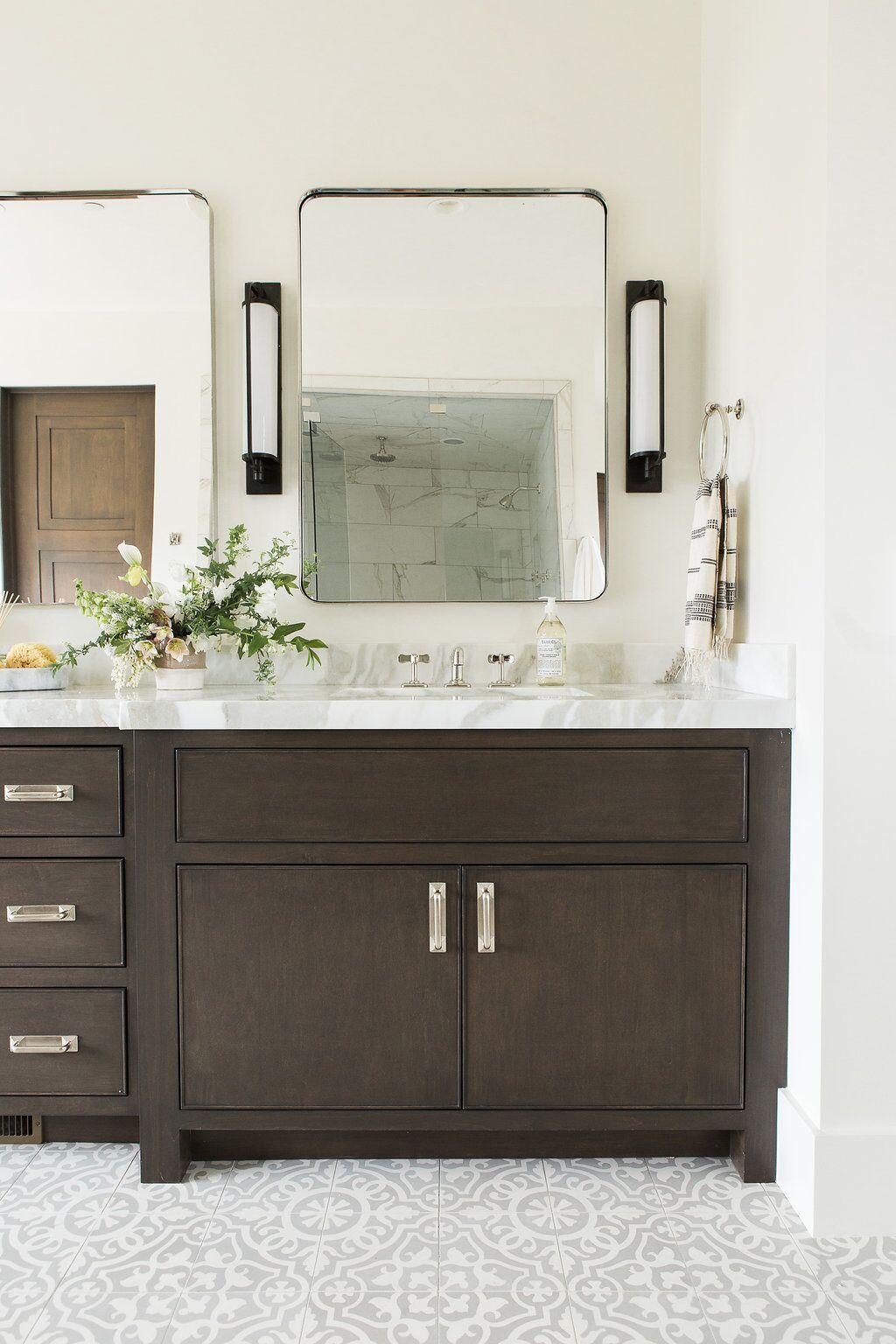 promontory project main floor master suite  mirror hanging  - bath