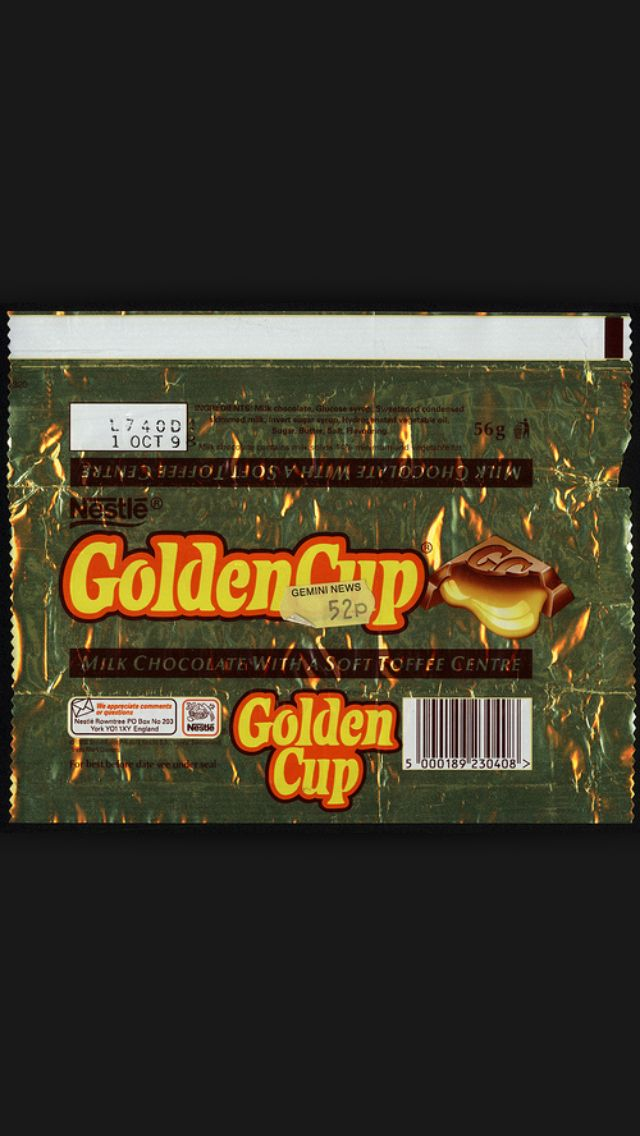 Golden Cup Sweet Wrappers Old Sweets Sweet Memories