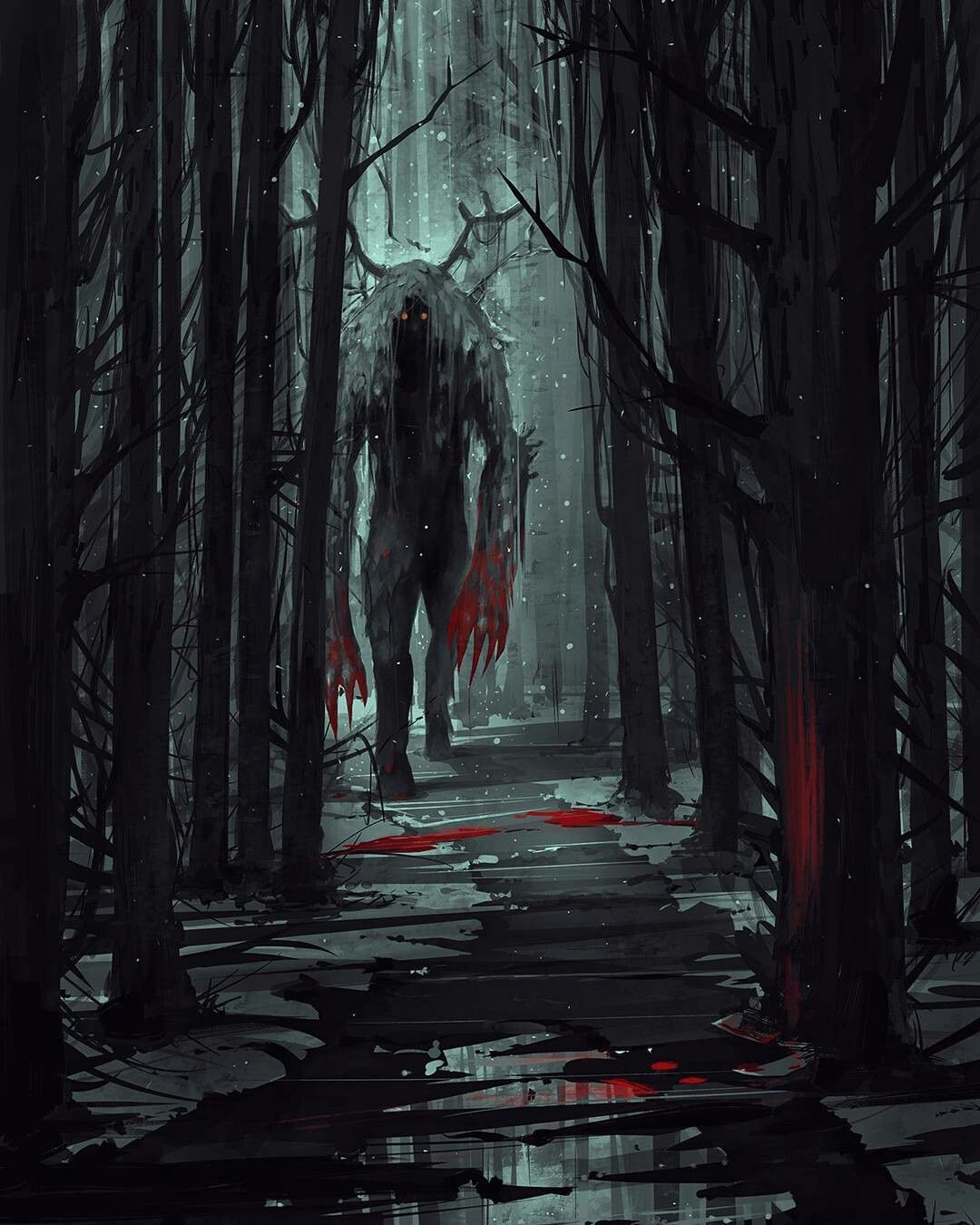 the monsters that roam the great forest art360 pinterest monsters creatures and horror. Black Bedroom Furniture Sets. Home Design Ideas