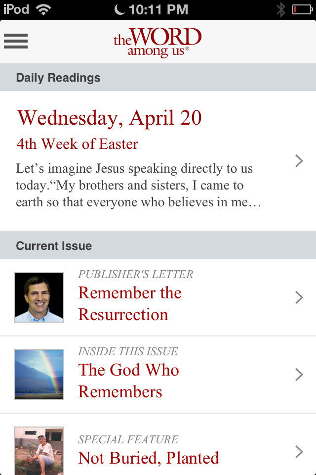 Review of The Word Among Us App Daily Readings by