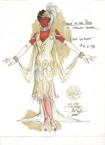 Singin' in the Rain (Lina La Mont). The Ordway Center. Costume design by Gregory A. Poplyk. 2009