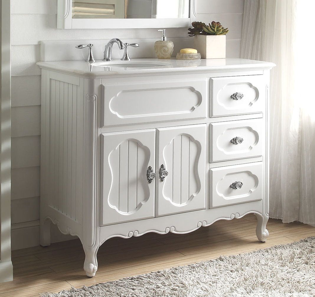 42 Benton Collection Victorian Cottage Style White Knoxville Bathroom Vanity Gd 1509w 42 Cottage Style Bathrooms 42 Inch Bathroom Vanity Cottage Bathroom