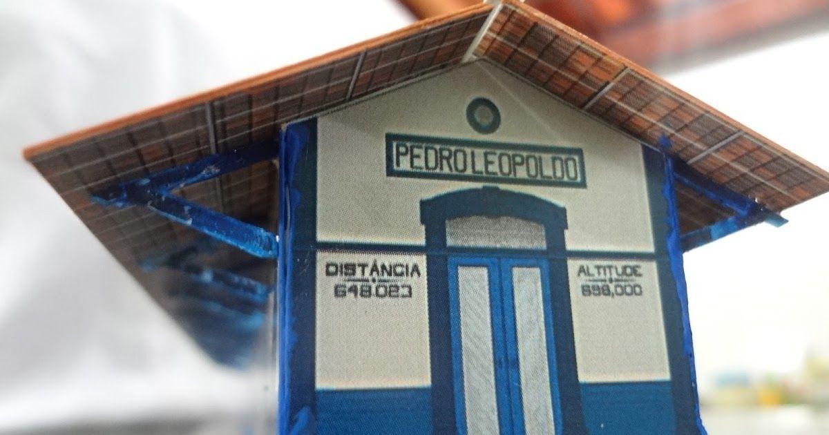 Estação Ferroviária de Pedro Leopoldo. Modelo de papel na  escala N 1:160