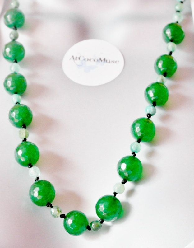 Hand knotted Quartz Semi precious Gemstone Necklace Set - pinned by pin4etsy.com