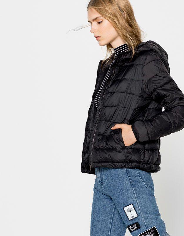 basic hooded nylon jacket coats and jackets clothing. Black Bedroom Furniture Sets. Home Design Ideas